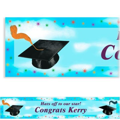 Grad Spirit Custom Graduation Banner