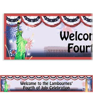 Custom Flying Colors Patriotic Banner 6ft