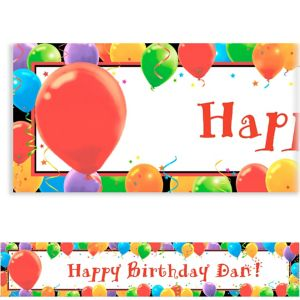 Custom Balloon Celebration Birthday Banner 6ft
