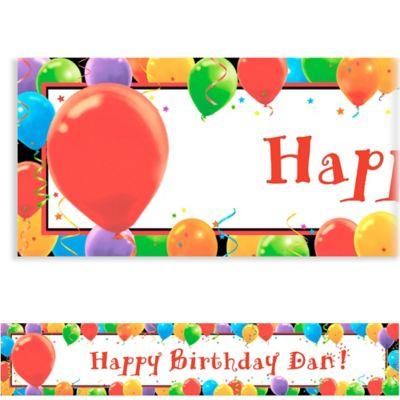 Balloon Celebration Custom Birthday Banner