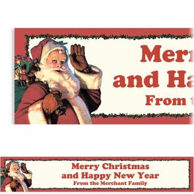 Jolly St. Nick Custom Christmas Banner