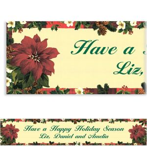 Custom Holiday Botanical Banner 6ft