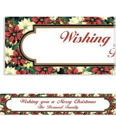 Regal Poinsettia Custom Christmas Banner
