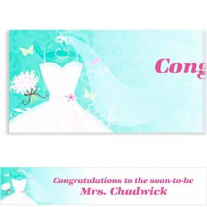 Custom Something Blue Bridal Shower Banner 6ft