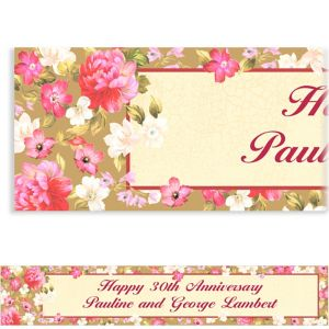 Custom Elegant Bouquet Banner 6ft