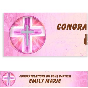 Custom Joyous Cross Pink Banner 6ft