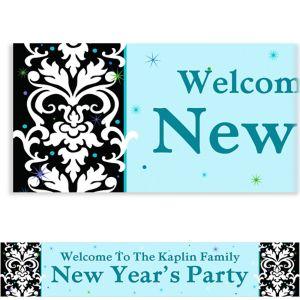 Custom Elegant New Year's Banner 6ft
