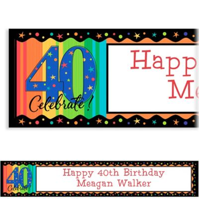 A Year to Celebrate 40 Custom Birthday Banner