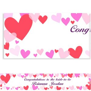 Custom Hearts Valentine's Day Banner 6ft