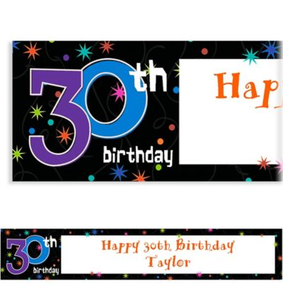 Custom The Party Continues 30th Birthday Banner 6ft