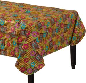 Tiki Time Flannel-Backed Vinyl Table Cover
