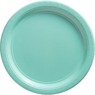 Robin's Egg Blue Paper Dinner Plates 20ct