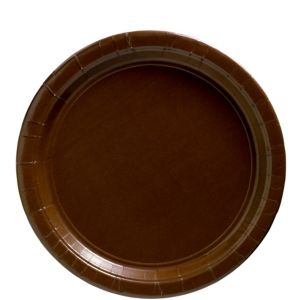 Big Party Pack Chocolate Brown Paper Lunch Plates 50ct