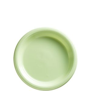 Big Party Pack Leaf Green Plastic Dessert Plates 50ct