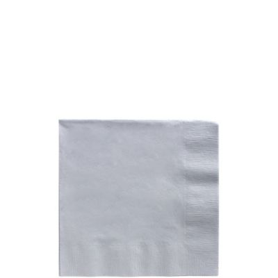 Silver Beverage Napkins 125ct