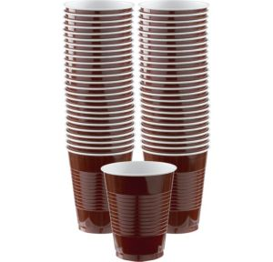 BOGO Chocolate Brown Plastic Cups 16oz 50ct