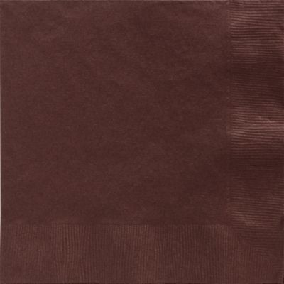 Chocolate Brown Dinner Napkins 50ct