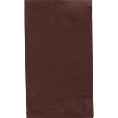 Chocolate Brown Guest Towels 40ct