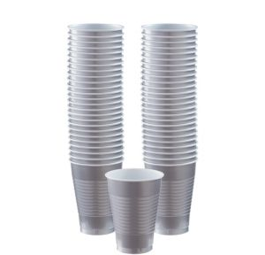 BOGO Silver Plastic Cups 12oz 50ct