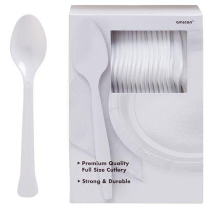 White Premium Plastic Spoons 100ct