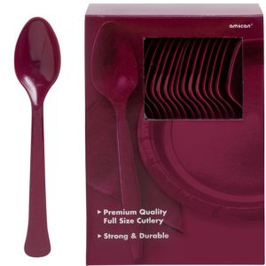 Big Party Pack Berry Premium Plastic Spoons 100ct