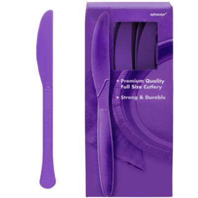 Purple Premium Plastic Knives 100ct