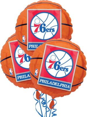 Philadelphia 76ers Balloons 3ct - Basketball