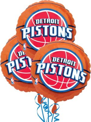 Detroit Pistons Balloons 3ct - Basketball
