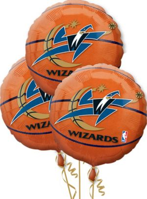 Washington Wizards Balloons 3ct - Basketball
