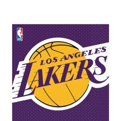 Los Angeles Lakers Lunch Napkins 16ct