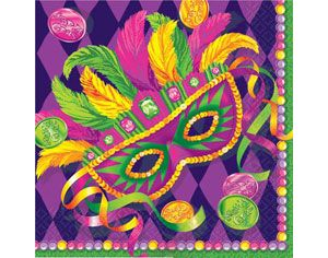 Masquerade Mardi Gras Lunch Napkins 16ct