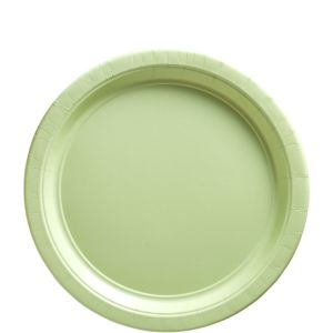 Big Party Pack Leaf Green Paper Lunch Plates 50ct