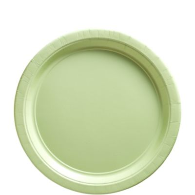 Leaf Green Paper Lunch Plates 50ct