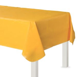 Sunshine Yellow Flannel-Backed Vinyl Table Cover