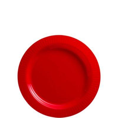 Red Premium Plastic Dessert Plates 32ct