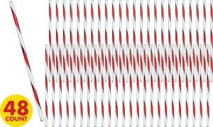 Peppermint Stick Krazy Straws 48ct