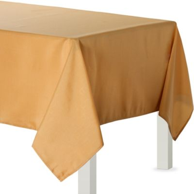 Gold Fabric Tablecloth
