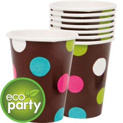 Chocolate & Dots Polka Dot Cups 18ct