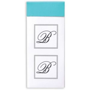 Monogram B Sticker Seals 30ct
