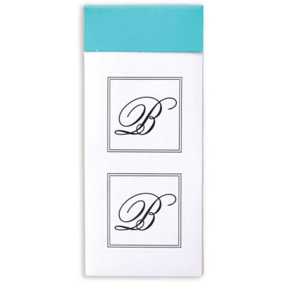 Monogram Envelope Seals B 30ct