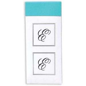 Monogram E Sticker Seals 30ct