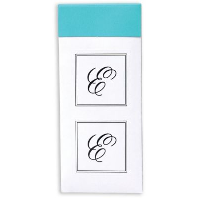 Monogram Envelope Seals E 30ct