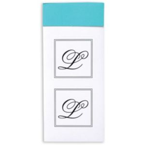 Monogram L Sticker Seals 30ct