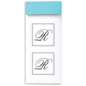 Monogram R Sticker Seals 30ct