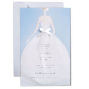 Stylish Bride Printable Bridal Shower Invitations Kit 12ct
