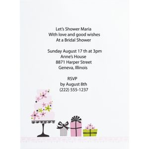 Enchanted Cake Printable Bridal Shower Invitation Kit 12ct