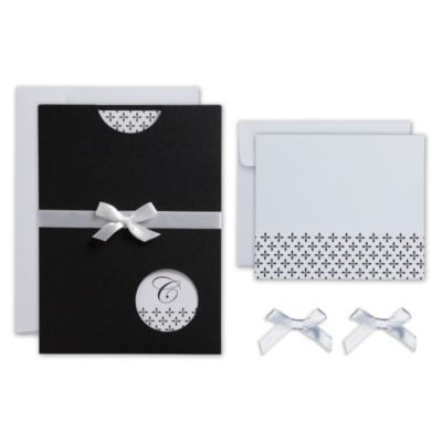 Peek-A-Boo Pocket Printable Wedding Invitations Kit 25ct