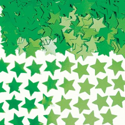 Mini Festive Green Star Confetti