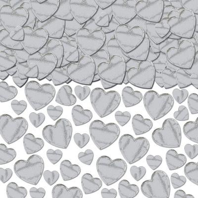 Silver Heart Confetti