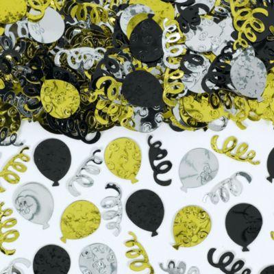 Black, Gold & Silver Party Confetti